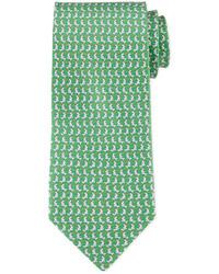 grüne bedruckte Krawatte