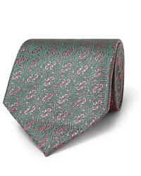 grüne bedruckte Krawatte von Charvet
