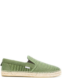grüne bedruckte Leder Espadrilles von Jimmy Choo