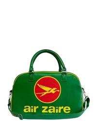 grüne bedruckte Shopper Tasche aus Leder von Logoshirt