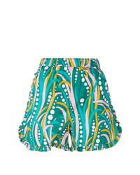 grüne bedruckte Shorts von La Doublej