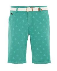 grüne bedruckte Shorts von WAY OF GLORY
