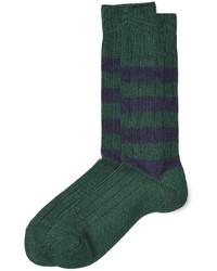 grüne bedruckte Socken
