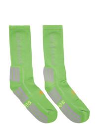 grüne bedruckte Socken von Aries