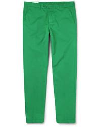 grüne Chinohose