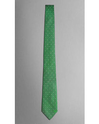 Grüne gepunktete Krawatte von Burberry