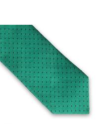 Grüne gepunktete Krawatte von Thomas Pink