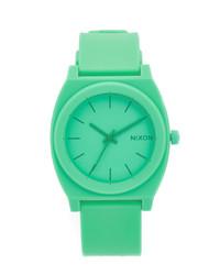 grüne Gummi Uhr von Nixon