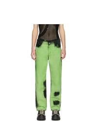 grüne Mit Batikmuster Jeans von Feng Chen Wang