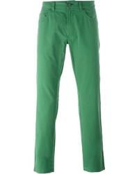 grüne Jeans von Salvatore Ferragamo