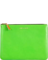 grüne Leder Clutch Handtasche