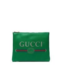 grüne Leder Clutch Handtasche von Gucci