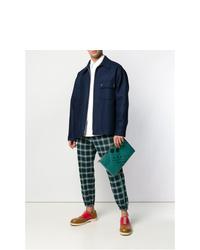 grüne Leder Clutch Handtasche von Marni