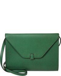 grüne Leder Clutch