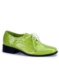 grüne Leder Oxford Schuhe