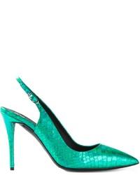 grüne Leder Pumps von Giuseppe Zanotti