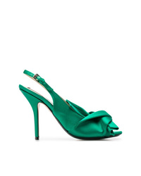 grüne Leder Pumps von N°21