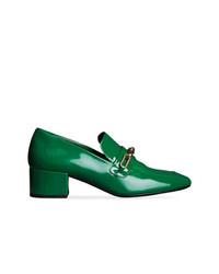 grüne Leder Slipper von Burberry