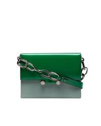 grüne Leder Umhängetasche von Marni