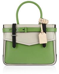 grüne Lederhandtasche von Reed Krakoff