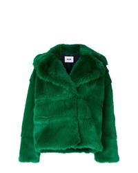 grüne Pelzjacke von MSGM