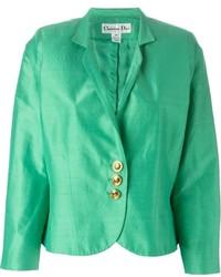 grüne Satinjacke von Christian Dior