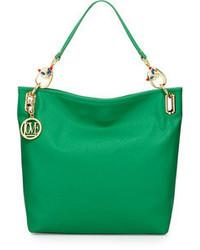grüne Shopper Tasche aus Leder