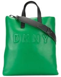 grüne Shopper Tasche aus Leder von DKNY