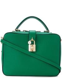 grüne Shopper Tasche aus Leder von Dolce & Gabbana