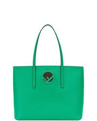 grüne Shopper Tasche aus Leder von Fendi