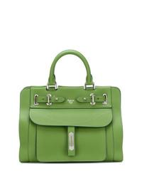 grüne Shopper Tasche aus Leder von Fontana