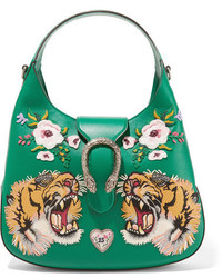 grüne Shopper Tasche aus Leder von Gucci