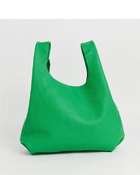 grüne Shopper Tasche aus Leder von Hill & Friends