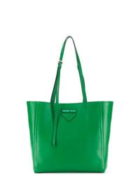 grüne Shopper Tasche aus Leder von Prada