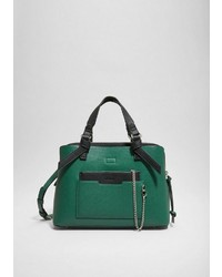 grüne Shopper Tasche aus Leder von s.Oliver