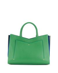 grüne Shopper Tasche aus Leder von Sara Battaglia