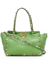 grüne Shopper Tasche aus Leder von Valentino Garavani