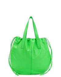 grüne Shopper Tasche aus Leder von Victoria Beckham