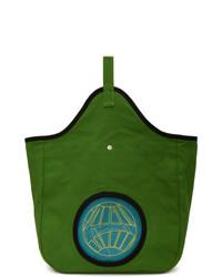grüne Shopper Tasche aus Segeltuch
