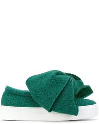 grüne Slip-On Sneakers aus Leder von Joshua Sanders