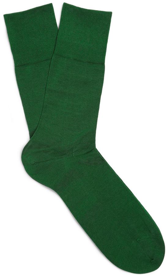 Online-Verkauf weit verbreitet elegant im Stil grüne Socken von Falke