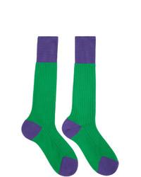 grüne Socken von Prada