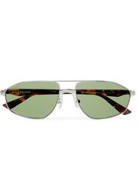 grüne Sonnenbrille von Balenciaga