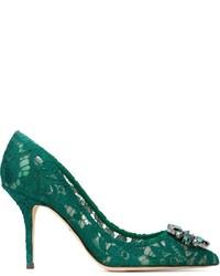 grüne Spitze Pumps von Dolce & Gabbana