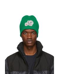 grüne Strick Mütze von Moncler