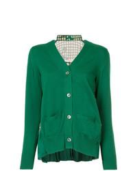 4f1063459ee7 Modische grüne Strickjacke für Damen von Sacai für Herbst 2018 ...