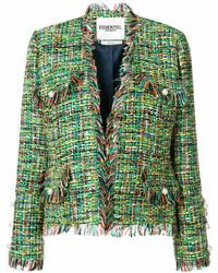 grüne Tweed-Jacke