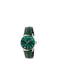 grüne Uhr von Gucci