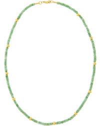 grüne verziert mit Perlen Halskette