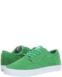 grüne Wildleder niedrige Sneakers